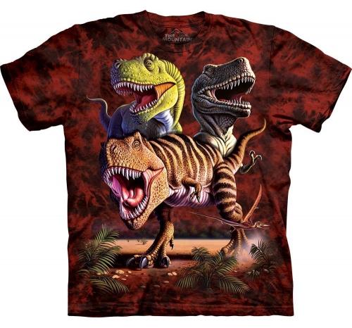 Футболка «Rex collage» с динозавром