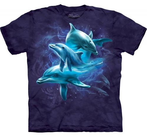 Футболка коллаж «Dolphin Collage» с дельфином