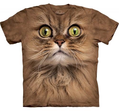 Футболка 3D «Big face brown cat» с коричневым котом