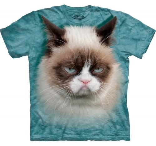Футболка 3D «Grumpy Cat» со злой кошкой