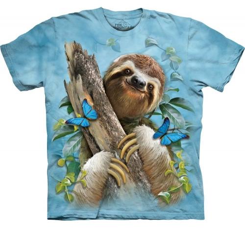 Футболка «Sloth & Butterflies» с ленивцем и бабочкой