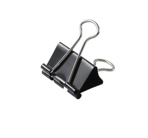 Комплект зажимов (биндеров) для бумаги и кожи, металл, 12 шт. в комп., размер 41/21/12 (мм)