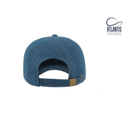 Бейсболка кепка Dad Hat цвет светло-синяя джинса