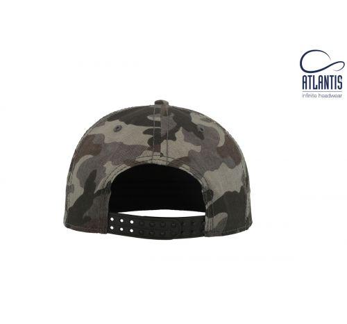 Бейсболка кепка Deck цвет камуфляж серый