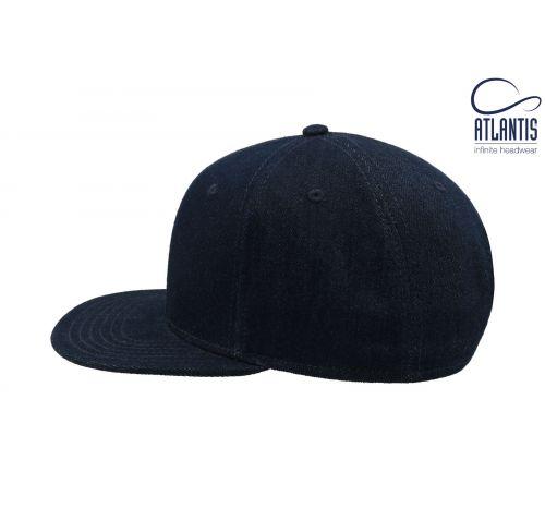Бейсболка кепка Snap Denim цвет синяя джинса