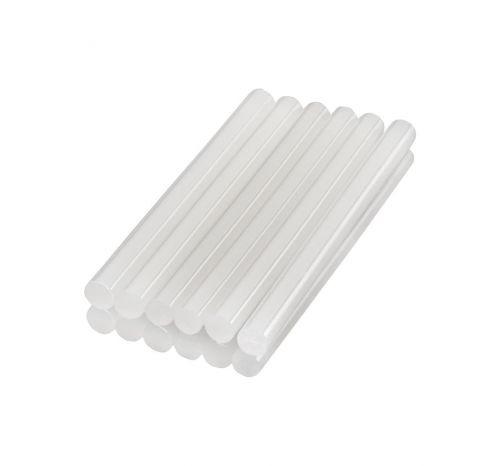 Клеевые стержни диаметр 7,4 мм, длина 200 мм, прозрачные, 10 шт. в упак., хедер