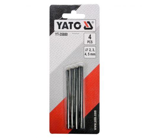 Набор круглых пробойников для кожи YT-35880, 4 элемента, Ø 2; 3; 4; 5 мм