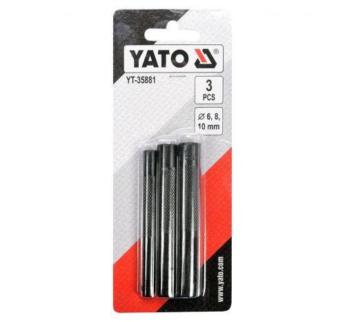 Набор круглых пробойников для кожи YT-35881, 3 элемента, Ø 6; 8; 10 мм