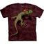 Футболка «Peace Out Gecko» с ящерицей гекком и знаком победителя