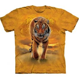 Футболка «Rising Sun Tiger» с бенгальским тигром на охоте