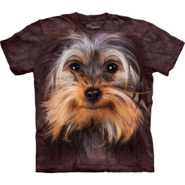 Футболка 3D «Yorkshire Terrier Face» с собакой йорки
