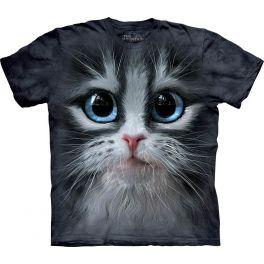 Футболка «Cutie pie kitten face» с котёнком и голубыми глазами