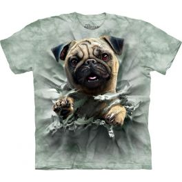 Футболка «Pug Breakthru» с мопсом