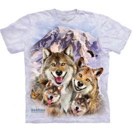 Футболка селфи «Wolf selfie» с волком