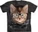 Футболка «Hipster Kitten» с кошкой хипстером в очках
