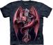 Футболка «Gothic Guardian» с готическим крестом и драконом
